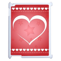 Postcard Banner Heart Holiday Love Apple Ipad 2 Case (white)
