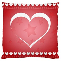 Postcard Banner Heart Holiday Love Large Cushion Case (two Sides)