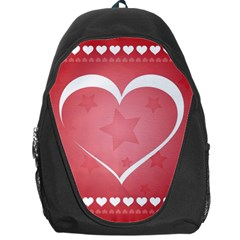 Postcard Banner Heart Holiday Love Backpack Bag