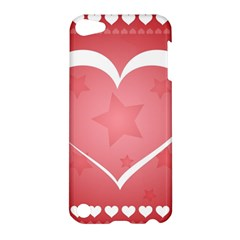 Postcard Banner Heart Holiday Love Apple Ipod Touch 5 Hardshell Case