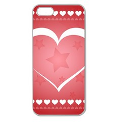 Postcard Banner Heart Holiday Love Apple Seamless Iphone 5 Case (clear)