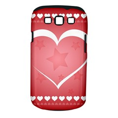 Postcard Banner Heart Holiday Love Samsung Galaxy S Iii Classic Hardshell Case (pc+silicone)