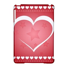Postcard Banner Heart Holiday Love Apple Ipad Mini Hardshell Case (compatible With Smart Cover)