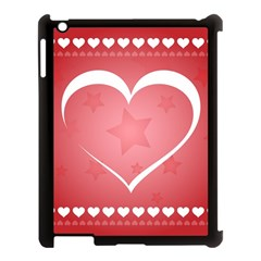 Postcard Banner Heart Holiday Love Apple Ipad 3/4 Case (black)