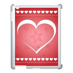 Postcard Banner Heart Holiday Love Apple Ipad 3/4 Case (white)