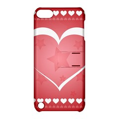 Postcard Banner Heart Holiday Love Apple Ipod Touch 5 Hardshell Case With Stand