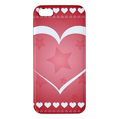 Postcard Banner Heart Holiday Love Apple Iphone 5 Premium Hardshell Case