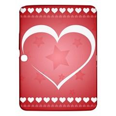 Postcard Banner Heart Holiday Love Samsung Galaxy Tab 3 (10 1 ) P5200 Hardshell Case