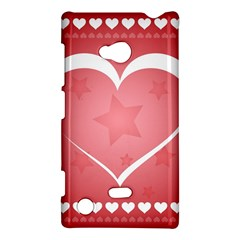 Postcard Banner Heart Holiday Love Nokia Lumia 720