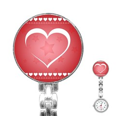 Postcard Banner Heart Holiday Love Stainless Steel Nurses Watch