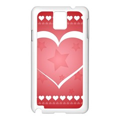 Postcard Banner Heart Holiday Love Samsung Galaxy Note 3 N9005 Case (white)