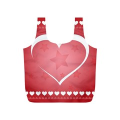 Postcard Banner Heart Holiday Love Full Print Recycle Bags (s)