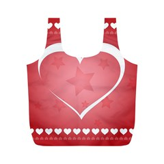 Postcard Banner Heart Holiday Love Full Print Recycle Bags (m)