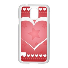 Postcard Banner Heart Holiday Love Samsung Galaxy S5 Case (white)