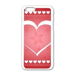 Postcard Banner Heart Holiday Love Apple Iphone 6/6s White Enamel Case