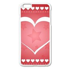 Postcard Banner Heart Holiday Love Apple Iphone 6 Plus/6s Plus Enamel White Case