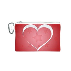 Postcard Banner Heart Holiday Love Canvas Cosmetic Bag (s)
