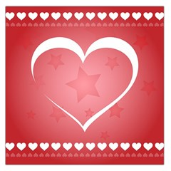 Postcard Banner Heart Holiday Love Large Satin Scarf (Square)