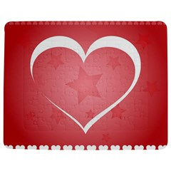 Postcard Banner Heart Holiday Love Jigsaw Puzzle Photo Stand (Rectangular)