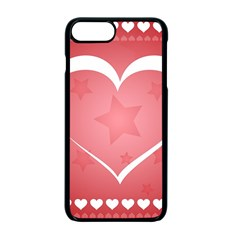 Postcard Banner Heart Holiday Love Apple Iphone 7 Plus Seamless Case (black)