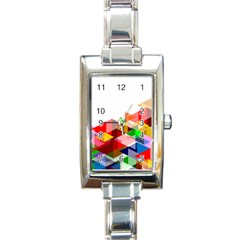 Graphics Cover Gradient Elements Rectangle Italian Charm Watch