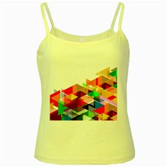 Graphics Cover Gradient Elements Yellow Spaghetti Tank