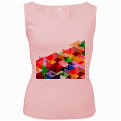 Graphics Cover Gradient Elements Women s Pink Tank Top