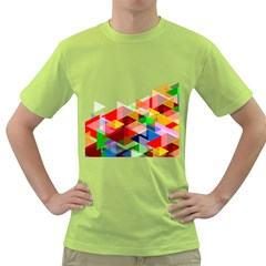 Graphics Cover Gradient Elements Green T Shirt