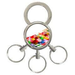 Graphics Cover Gradient Elements 3 Ring Key Chains