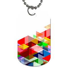 Graphics Cover Gradient Elements Dog Tag (one Side)