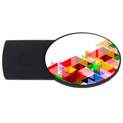 Graphics Cover Gradient Elements Usb Flash Drive Oval (2 Gb)