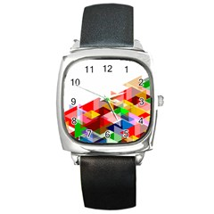 Graphics Cover Gradient Elements Square Metal Watch