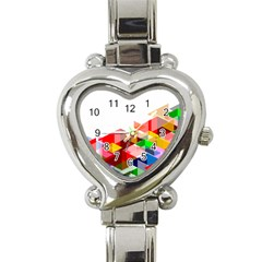Graphics Cover Gradient Elements Heart Italian Charm Watch