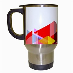 Graphics Cover Gradient Elements Travel Mugs (white)