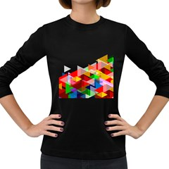 Graphics Cover Gradient Elements Women s Long Sleeve Dark T Shirts