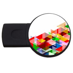 Graphics Cover Gradient Elements Usb Flash Drive Round (4 Gb)
