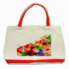Graphics Cover Gradient Elements Classic Tote Bag (red)