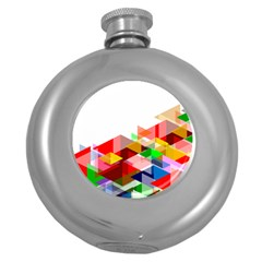 Graphics Cover Gradient Elements Round Hip Flask (5 Oz)