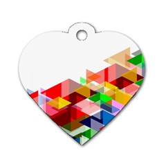 Graphics Cover Gradient Elements Dog Tag Heart (one Side)