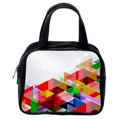 Graphics Cover Gradient Elements Classic Handbags (One Side)