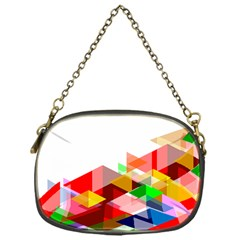 Graphics Cover Gradient Elements Chain Purses (one Side)