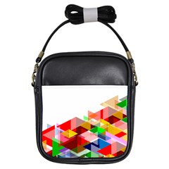Graphics Cover Gradient Elements Girls Sling Bags
