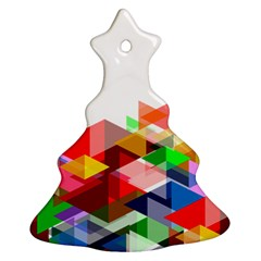 Graphics Cover Gradient Elements Christmas Tree Ornament (Two Sides)
