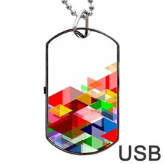 Graphics Cover Gradient Elements Dog Tag Usb Flash (one Side)
