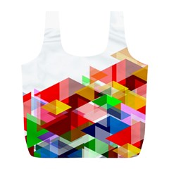 Graphics Cover Gradient Elements Full Print Recycle Bags (l)