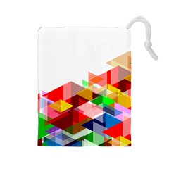 Graphics Cover Gradient Elements Drawstring Pouches (large)
