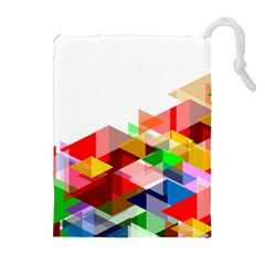 Graphics Cover Gradient Elements Drawstring Pouches (extra Large)