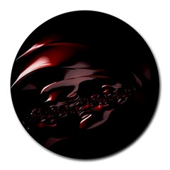 Fractal Mathematic Sabstract Round Mousepads