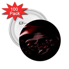 Fractal Mathematic Sabstract 2 25  Buttons (100 Pack)