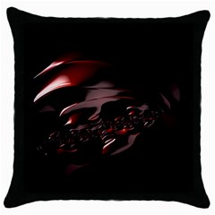 Fractal Mathematic Sabstract Throw Pillow Case (black)
